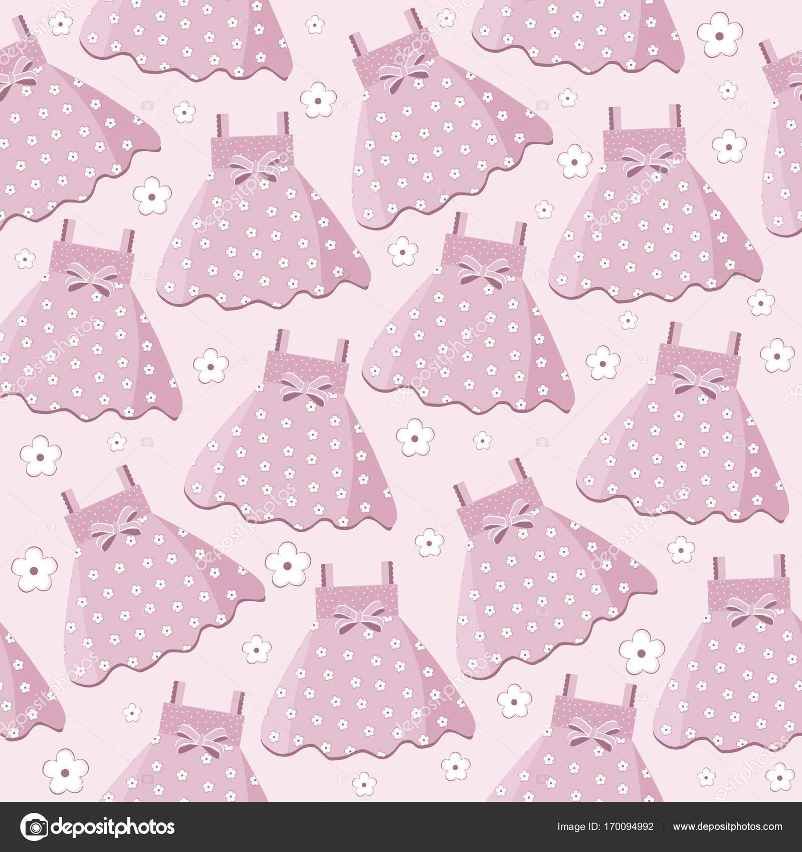 Vestido Baby Shower Dibujo Patron Sin Fisuras Con Vestidos Para