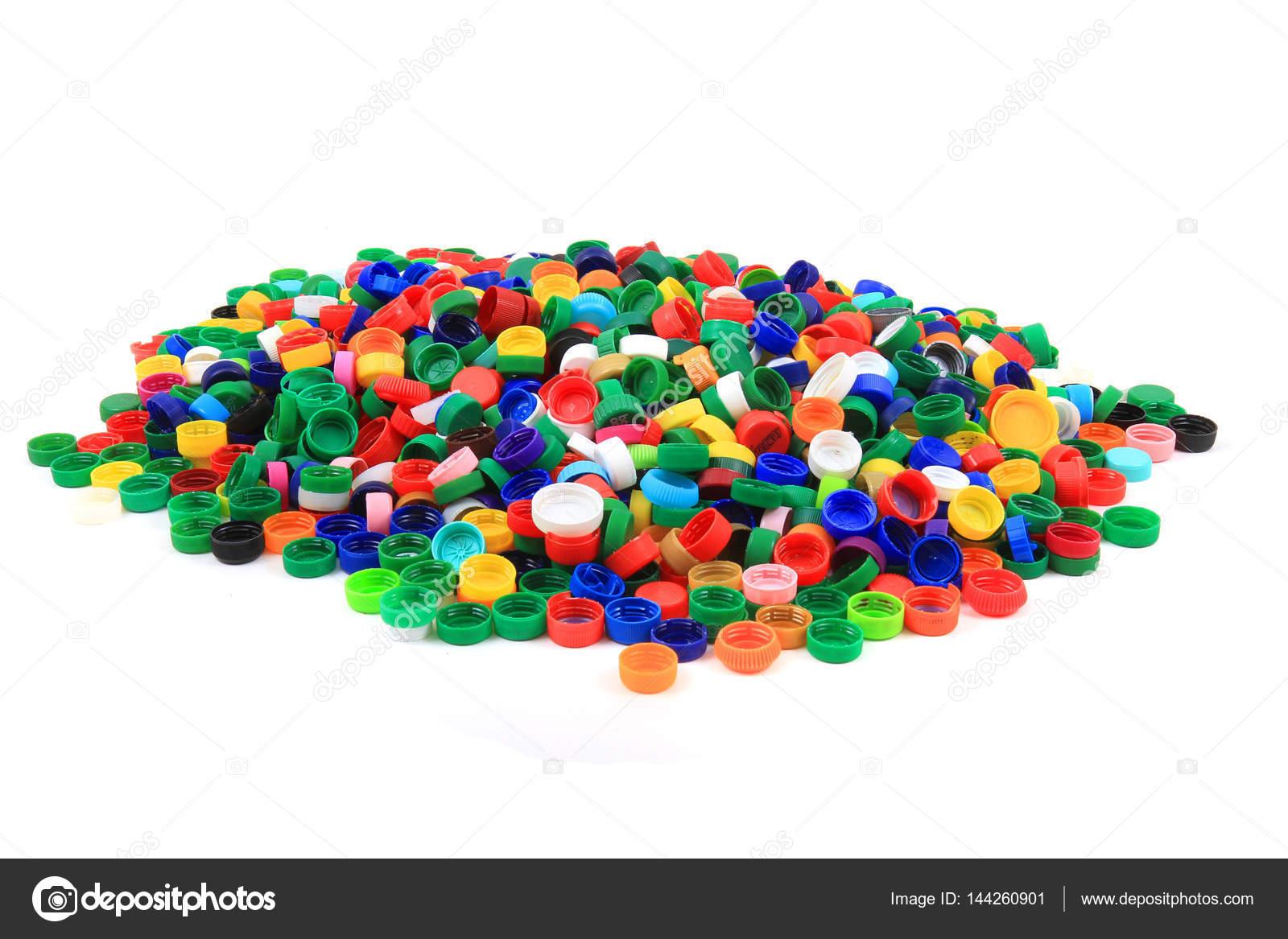 Tapas de pet pl stico aisladas foto de stock jonnysek for Tapas de plastico