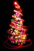 Vánoční strom z barevných světel