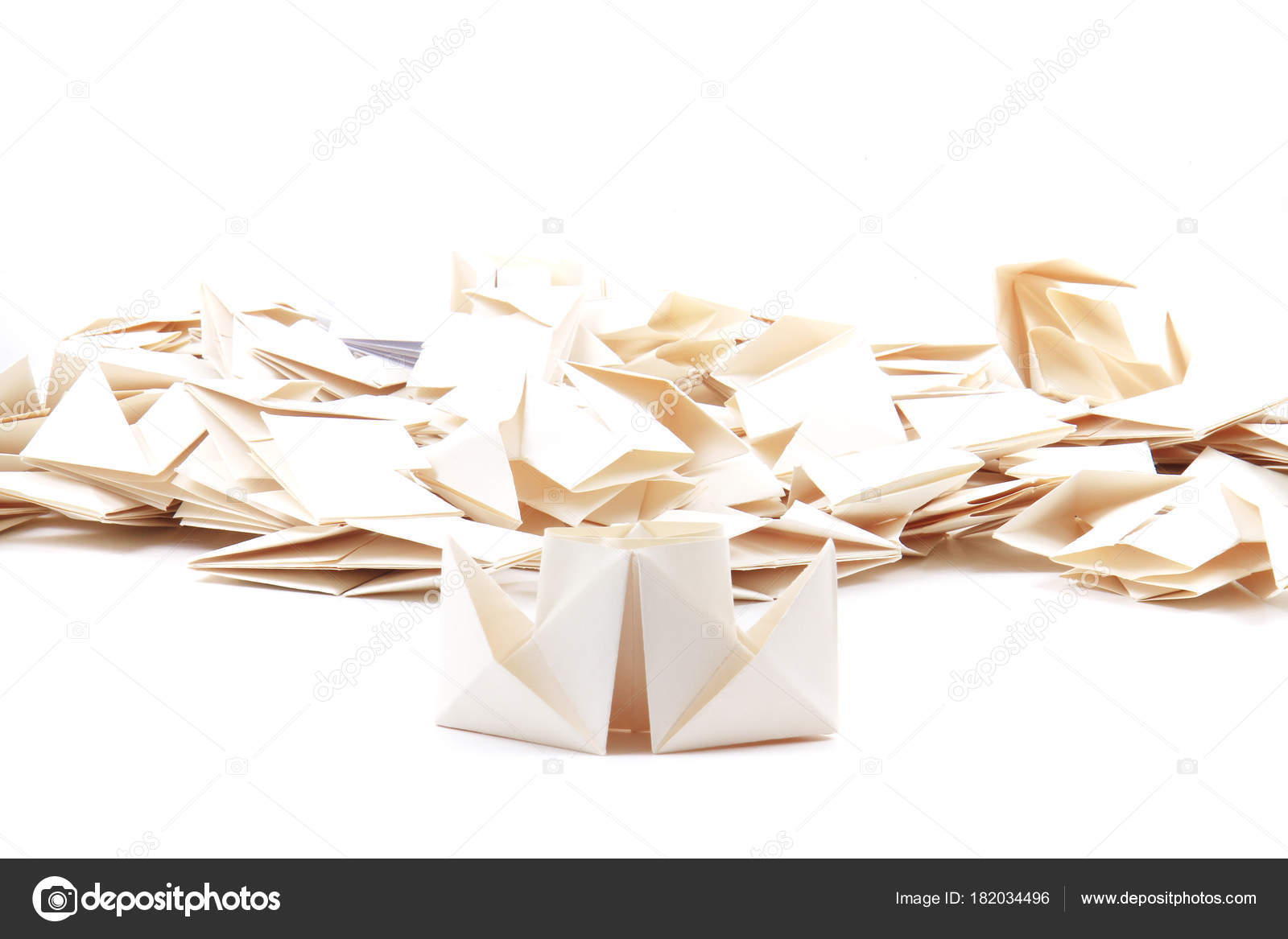 Navires Papiers Origami Comme Joli Fond Facile Photographie