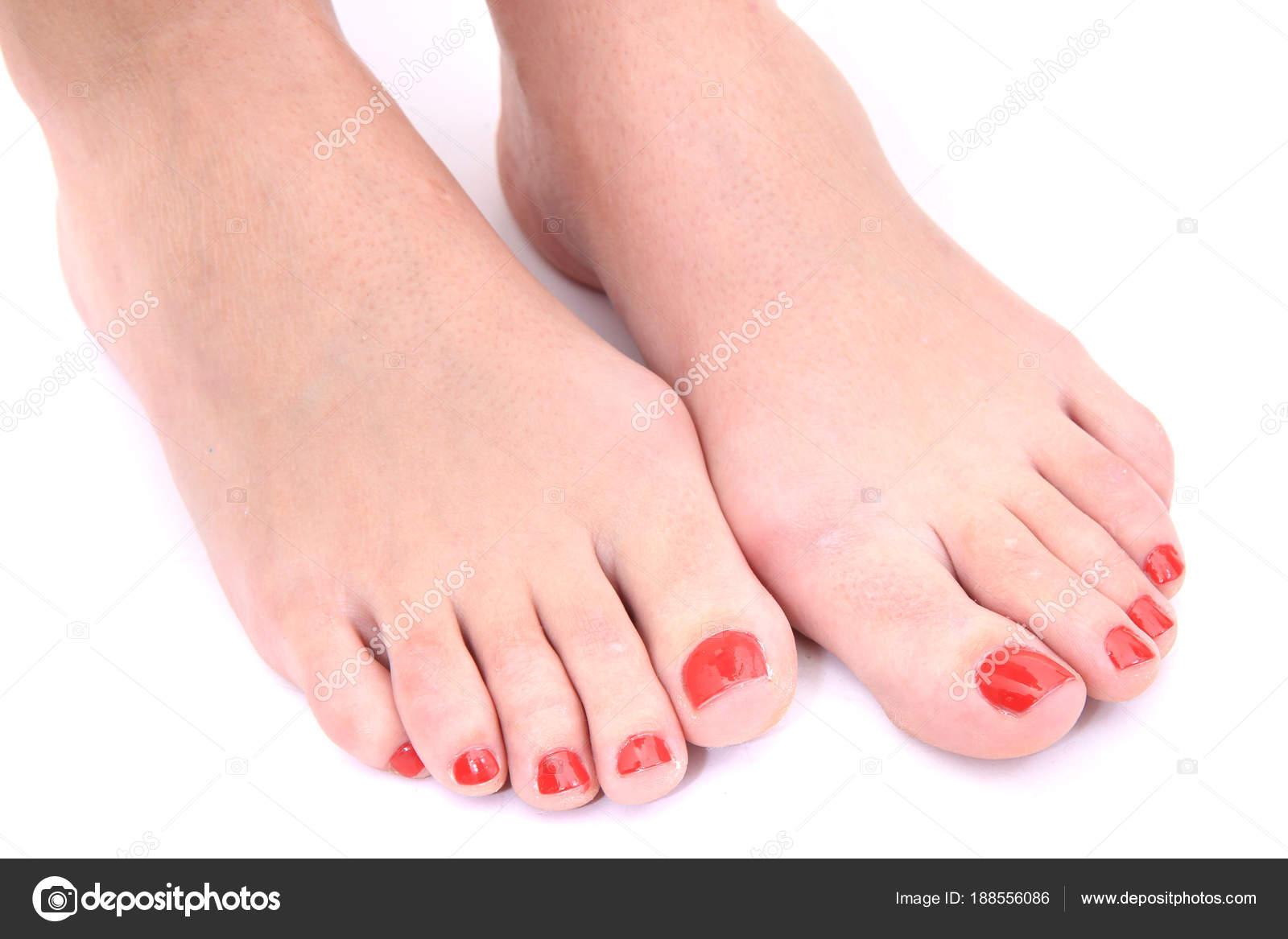 women legs with nice nails (pedicure) — Stock Photo © jonnysek ...