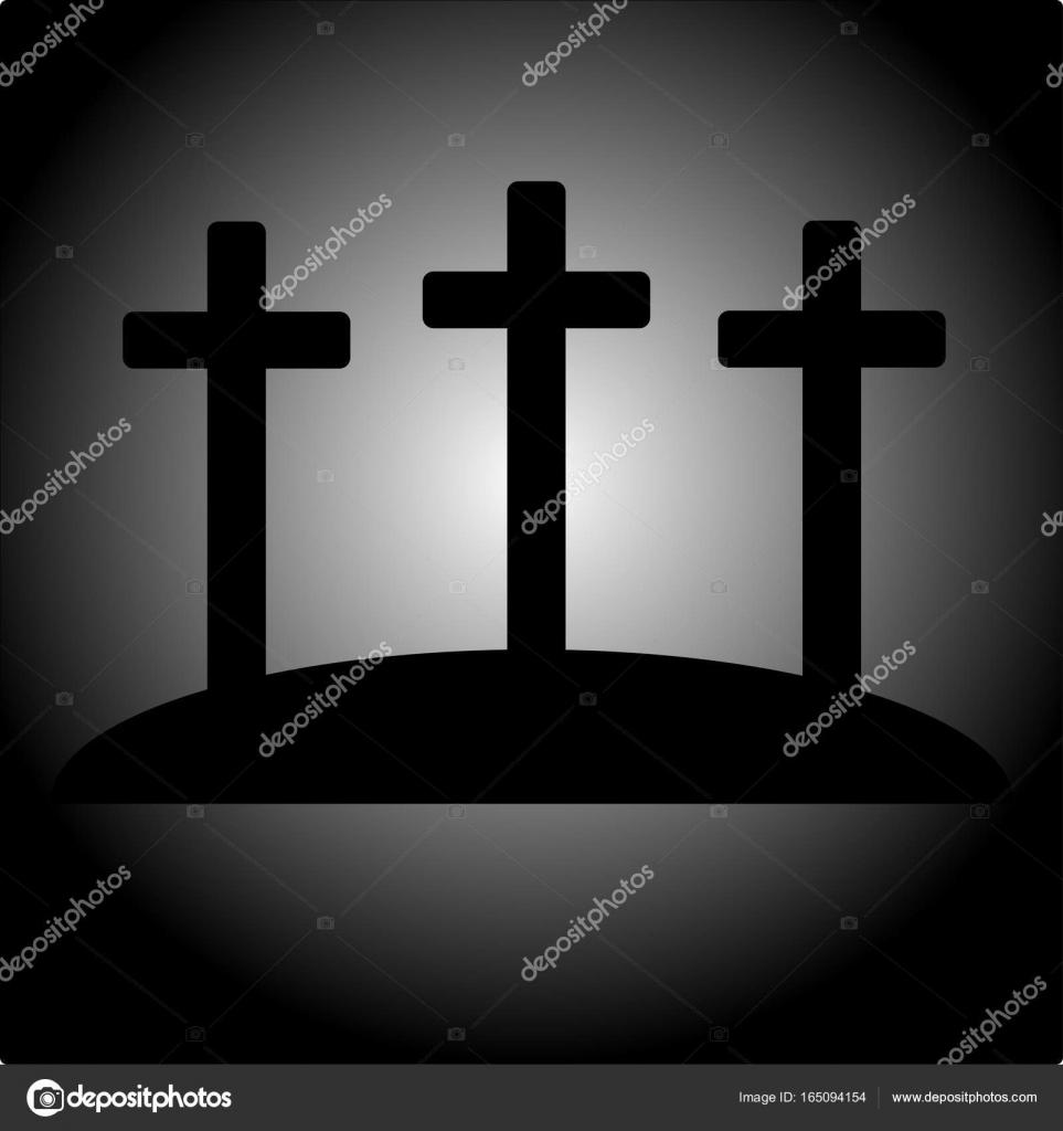 Clipart Three Crosses Simple Calvary Icon With Three