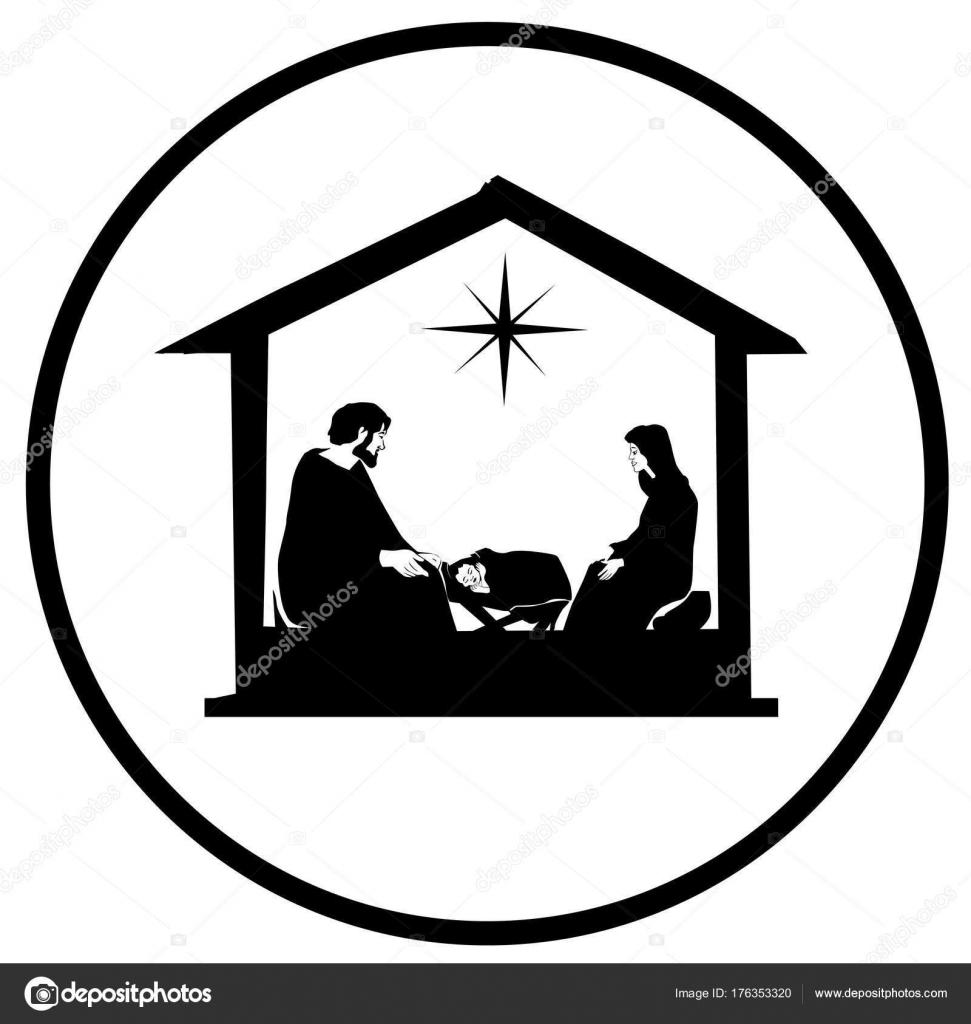 Weihnachten Christlich Krippe Mit Dem Jesuskind Der Krippe ...