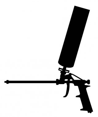 Foam gun. The tool for repair and installation of plastic windows vector eps 10