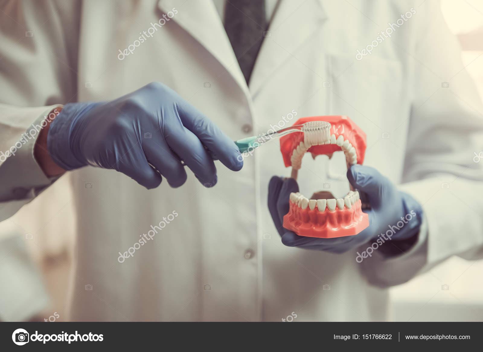 Zahnarzt mantel und zahne