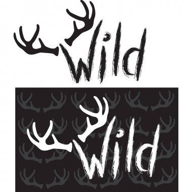 Wild. Hand drawn lettering
