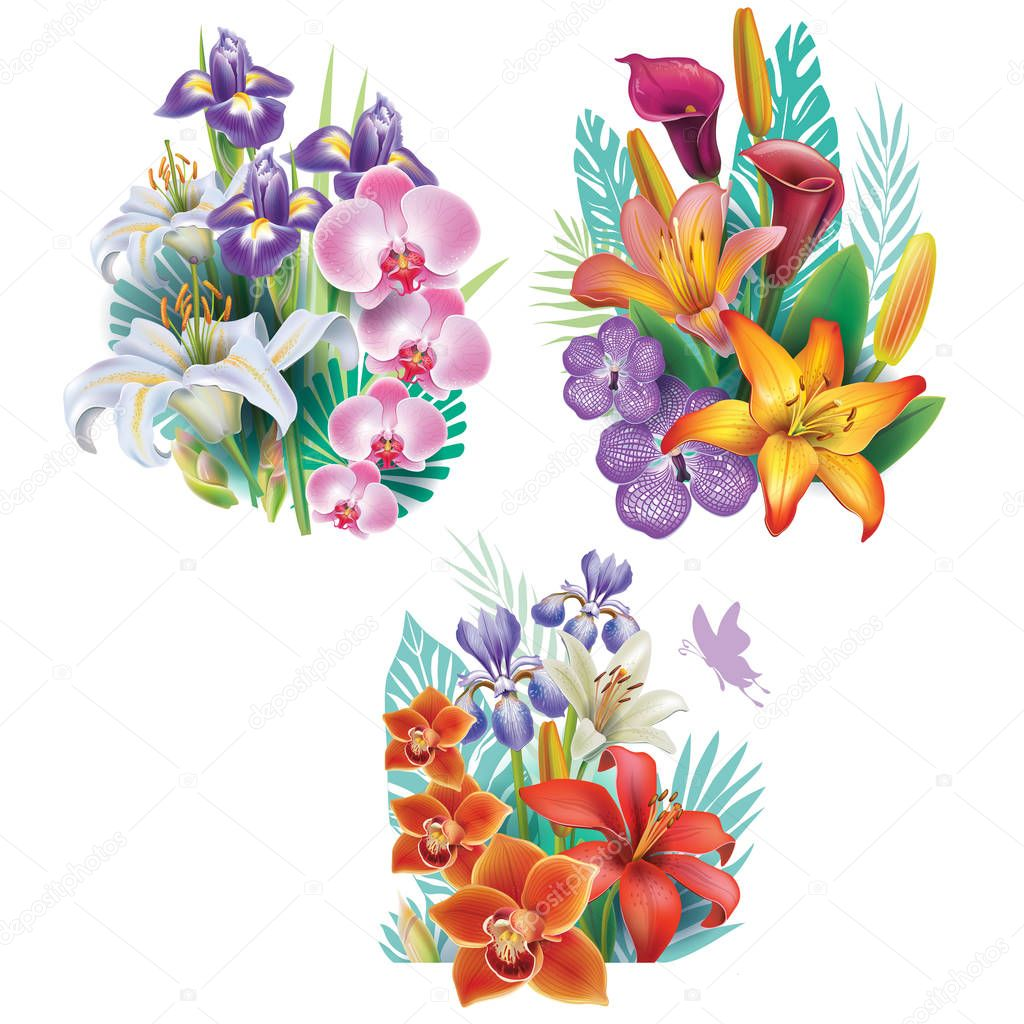Arrangements from tropical flowers