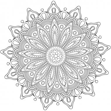 Decorative flower round ornament