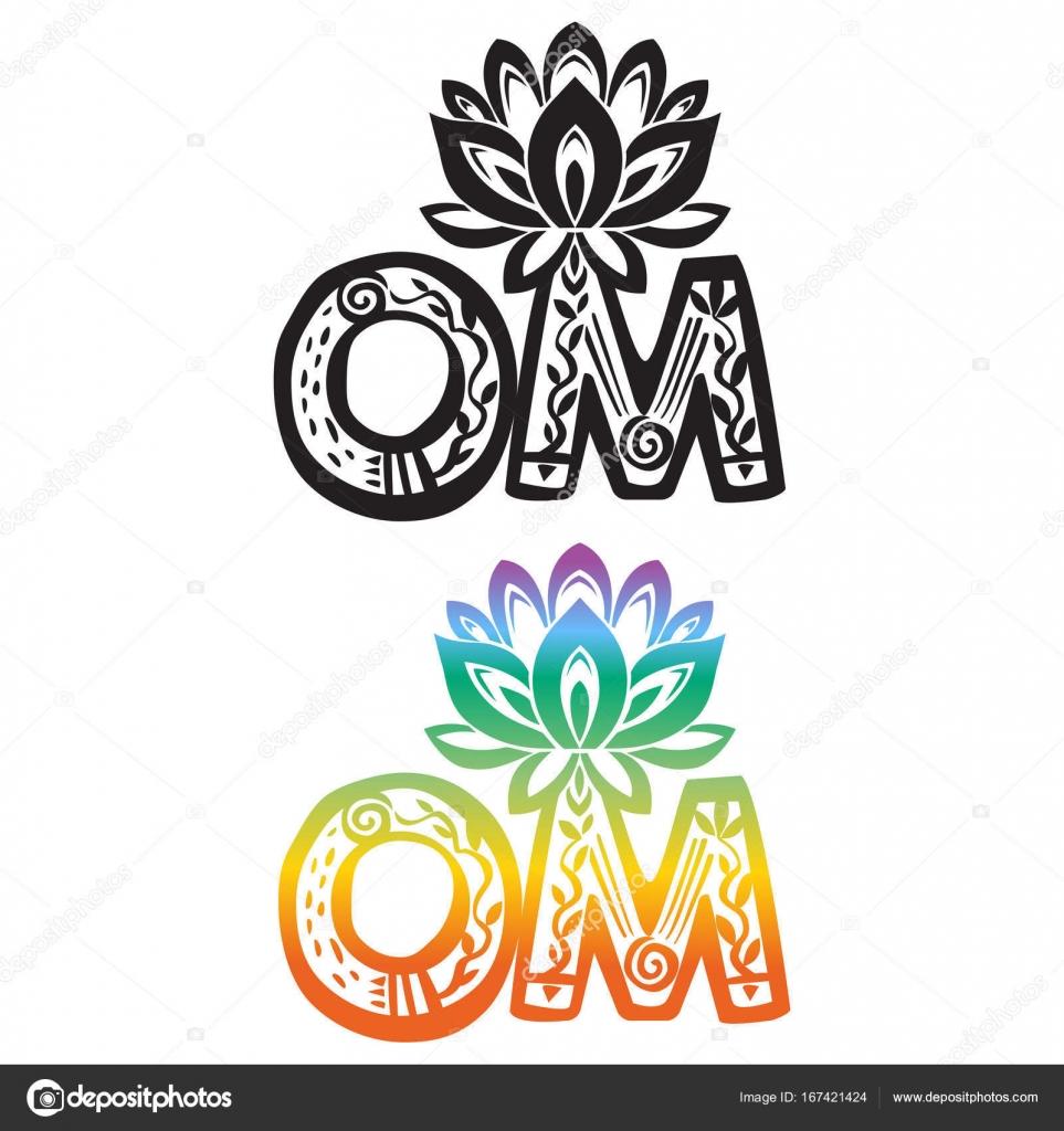 Word om with lotus flower silhouette stock vector wikki33 167421424 word om with lotus flower silhouette stock vector mightylinksfo Gallery