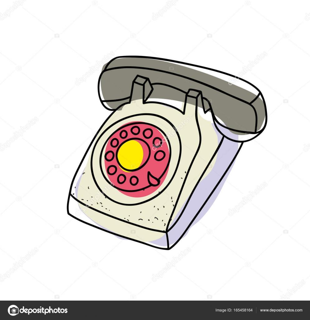Imágenes Telefonos Antiguos Antiguo Teléfono De Doodle Vector