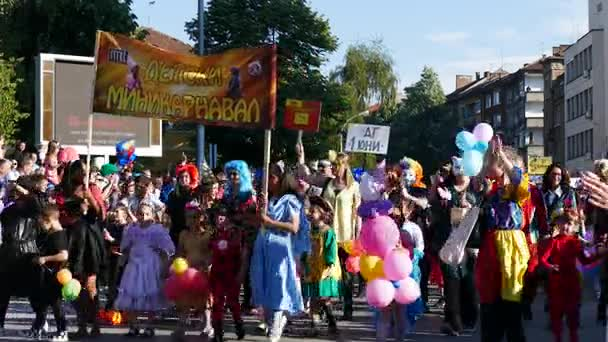 Hagyományos karneváli, Gabrovo, Bulgária.