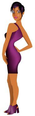Black Woman Purple Dress 2
