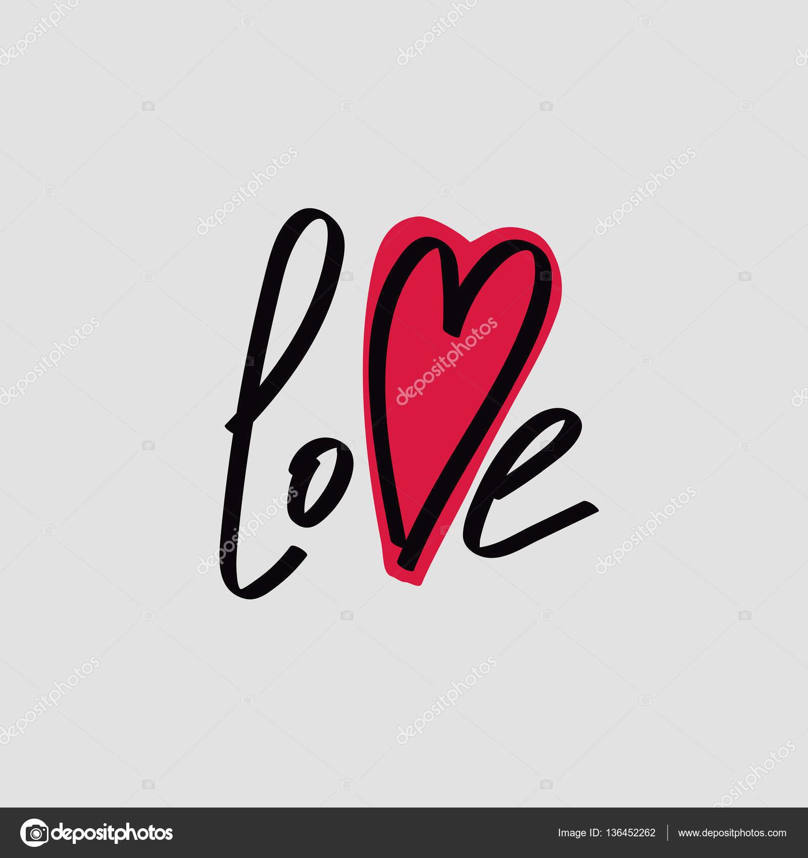Belettering van i love you kalligrafische lettertype stockvector belettering kalligrafische lettertype i love you hand tekenen individuele lettertype verklaring van de liefde lichte achtergrond grote rode hart voltagebd Choice Image