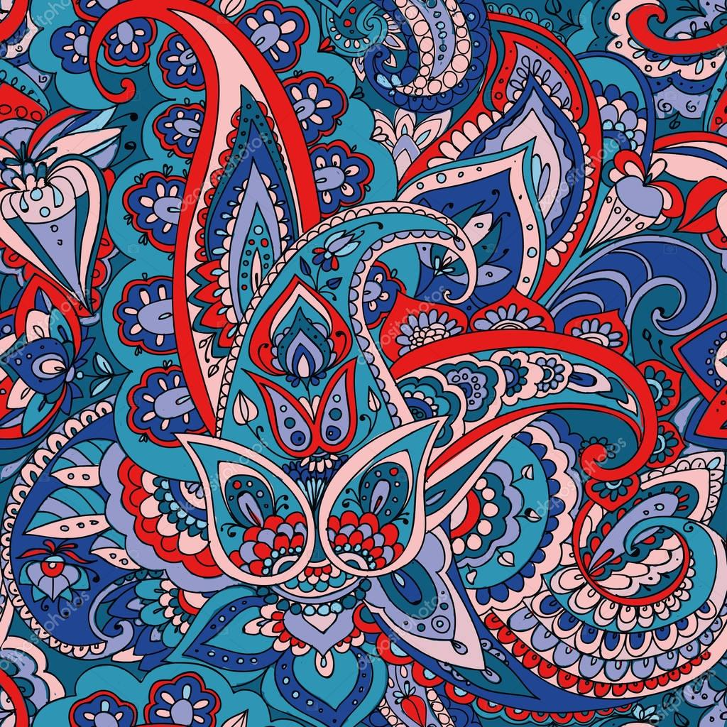Paisley. Hand drawing.