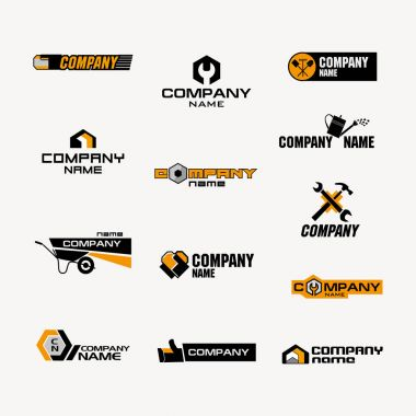 set of logos for store of household goods