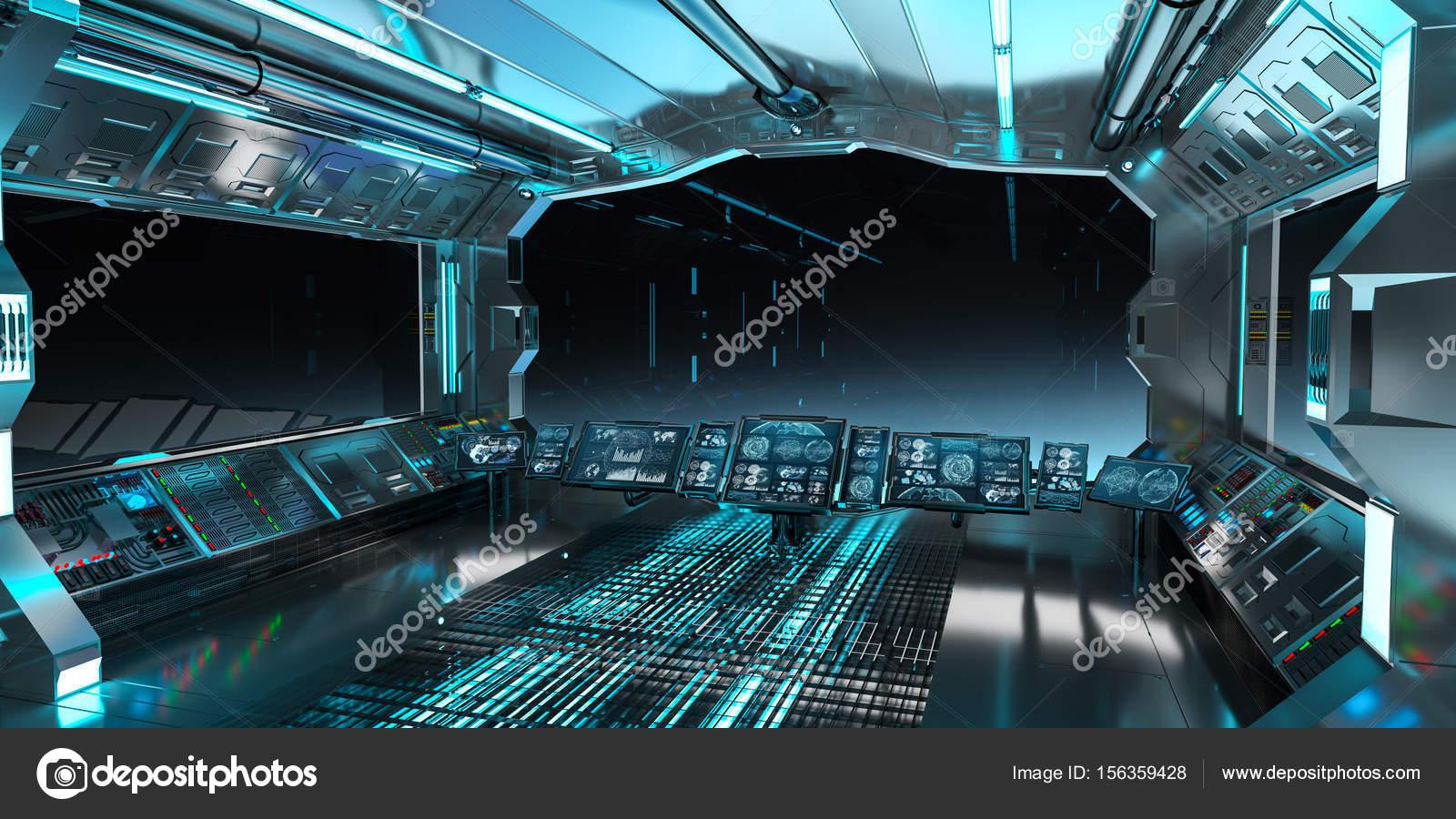 Interior De Ventana De Nave Espacial: Interior De La Nave Espacial Con Vista A La