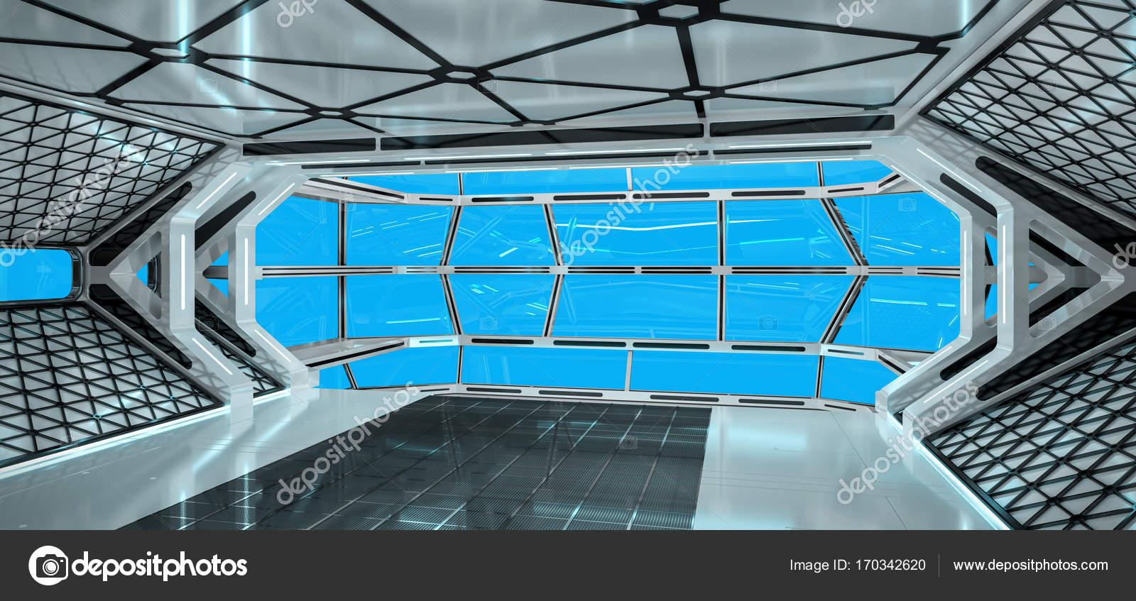 int rieur lumineux vaisseau spatial rendu 3d. Black Bedroom Furniture Sets. Home Design Ideas