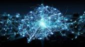 Lidský mozek digitální rentgen 3d vykreslování