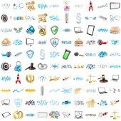 3D rendering modern icons