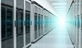 Photo Server room data center interior 3D rendering