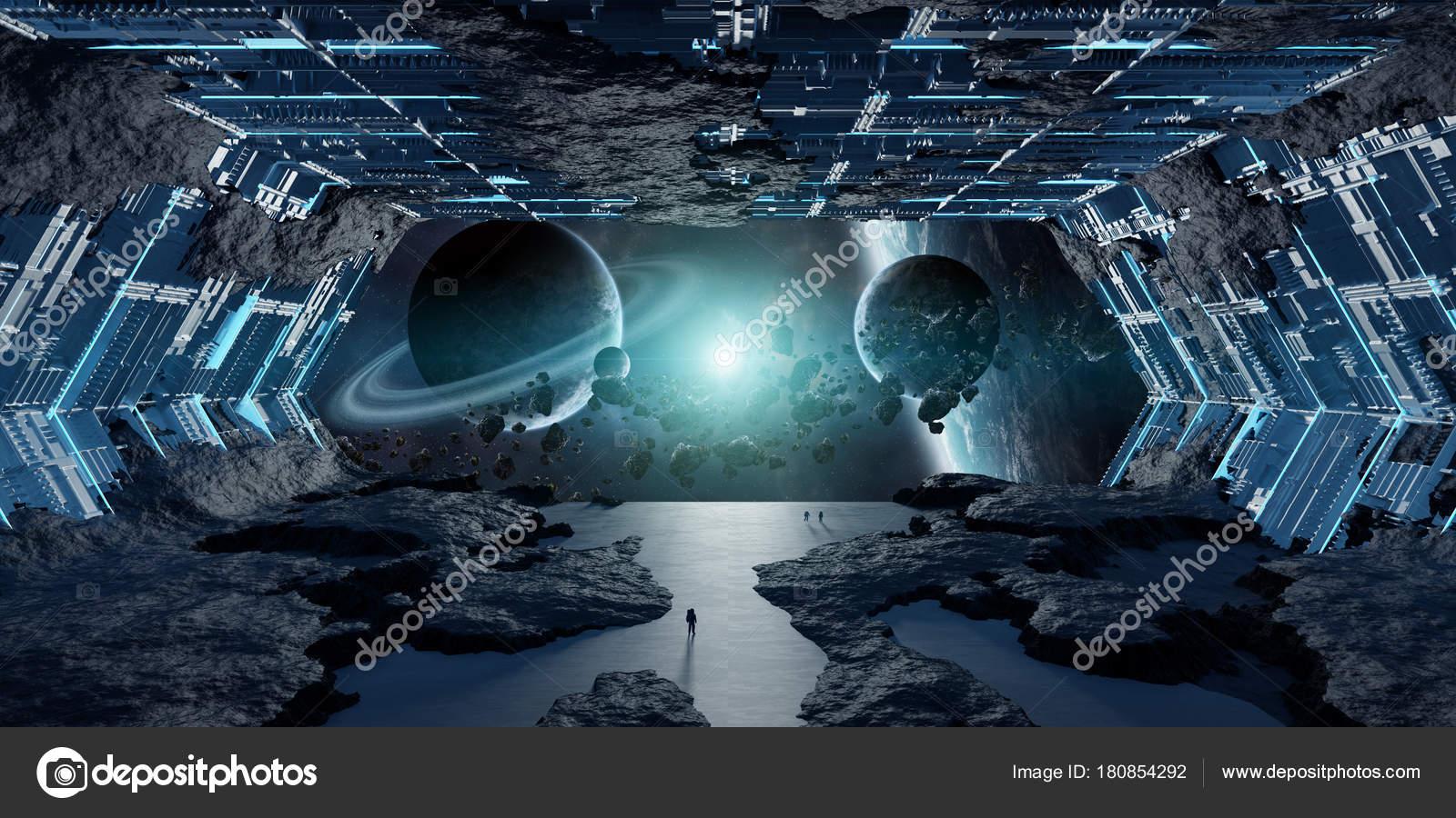 Elementos de representaci n de enorme nave espacial for Interior nave espacial