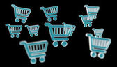 Fotografie Digital shopping icons isolated 3D rendering