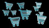 Fényképek Digitális bevásárló ikonok elszigetelt 3d-leképezés
