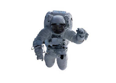 Astronaut isolated on white background 3D rendering elements of