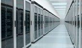 Server room data center interior 3D rendering