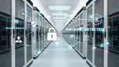 Firewall beim 3D-Rendering des Serverraums aktiviert