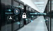 Fotografie Firewall aktiviert auf Serverdaten Zimmer Zentrum 3D-Rendering