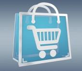 Digitální nákupy ikony, samostatný 3d vykreslování
