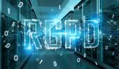 Fotografie Dsgvo Digitalschnittstelle im Raum Serverdaten center Lagerung 3D-Rendering