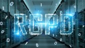 Dsgvo Digitalschnittstelle im Raum Serverdaten center Lagerung 3D-Rendering