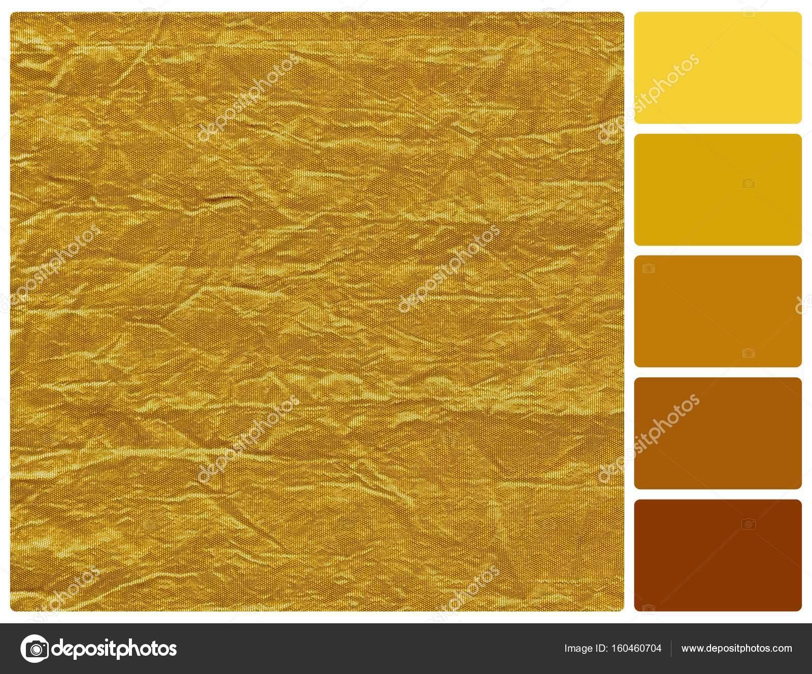 d0529b118 Textura dourada com amostras de cores da paleta — Fotografia de Stock