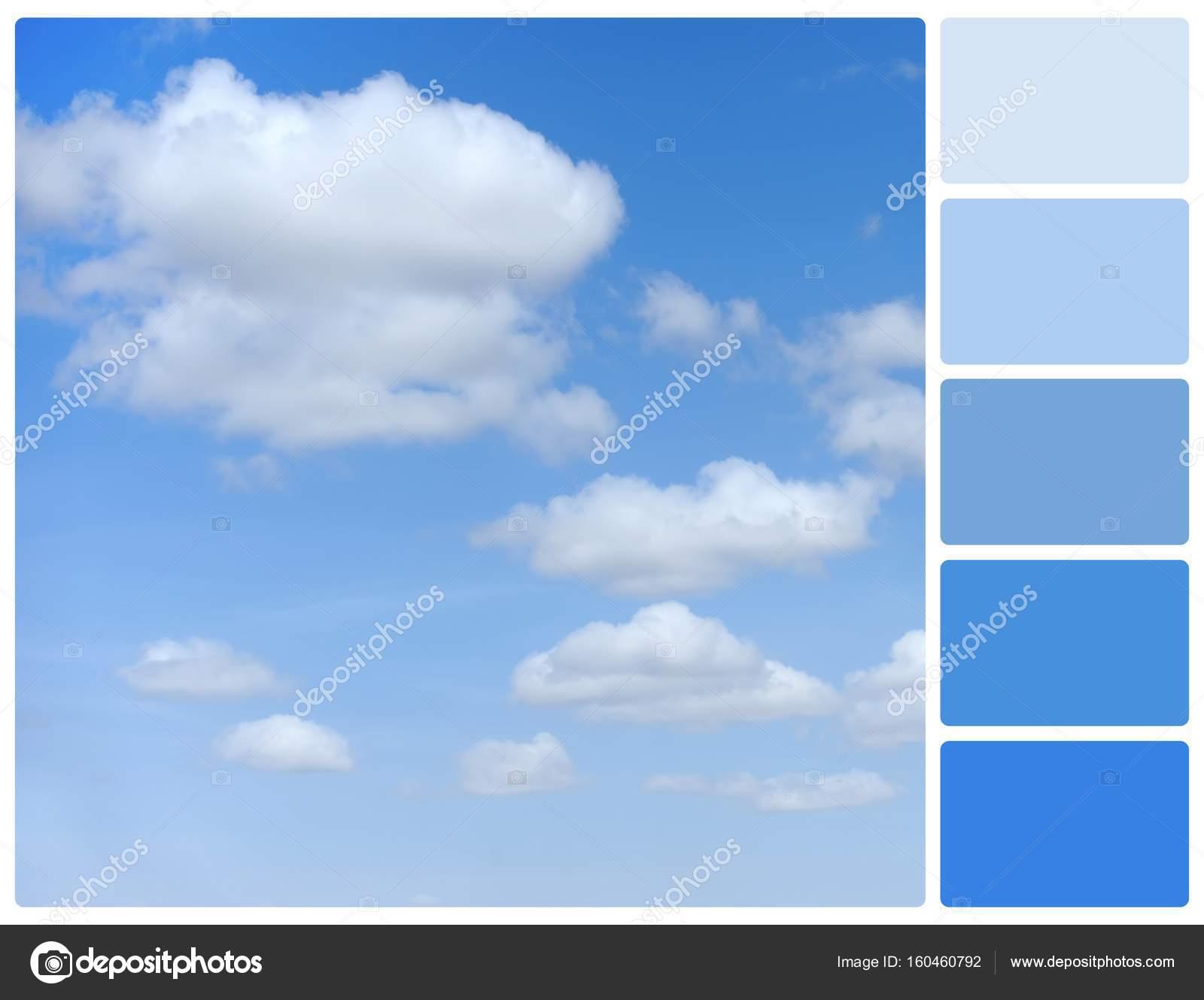 Ciel Bleu Avec Des Nuances De Couleurs De Palette Photographie