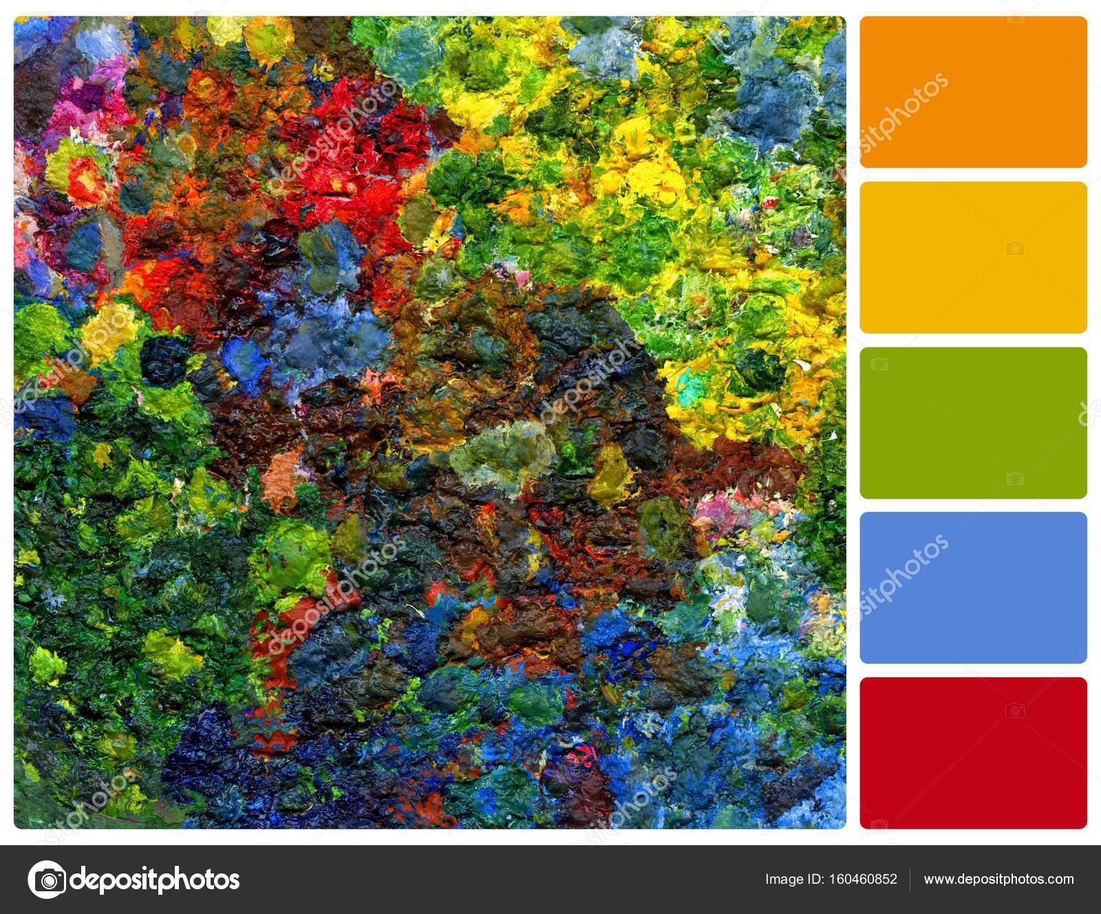 image de fond de palette lumineuse peinture l huile avec. Black Bedroom Furniture Sets. Home Design Ideas