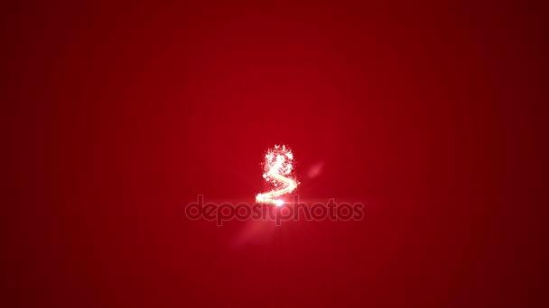 Karácsonyfa izzó részecskék. felső felirat boldog új évet