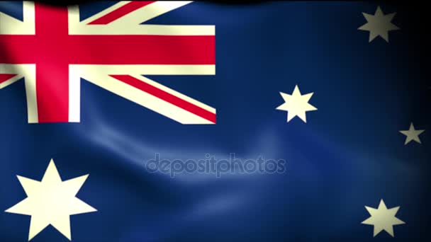 Australia Flag Background Seamless Looping Animation. 4K High Definition Video.