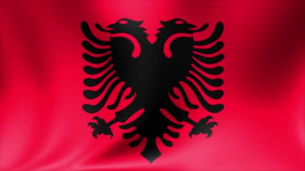 Albania Flag. Background Seamless Looping Animation. 4K High Definition Video.