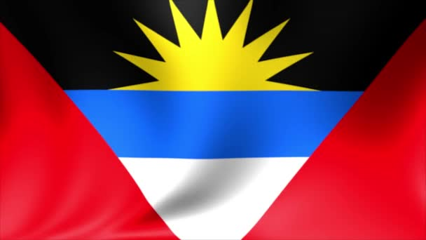Antigua and Barbuda Flag. Background Seamless Looping Animation. 4K High Definition Video.