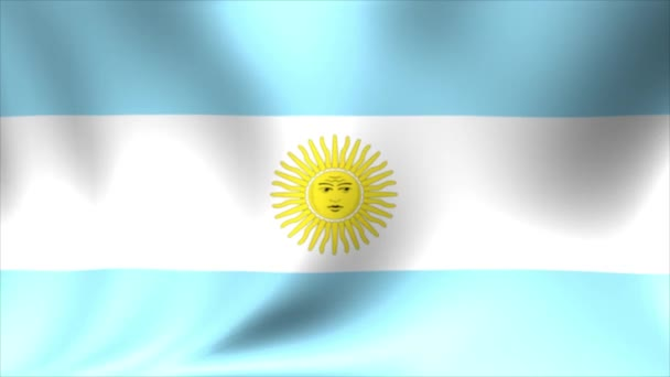 Argentina Flag. Background Seamless Looping Animation. 4K High Definition Video.