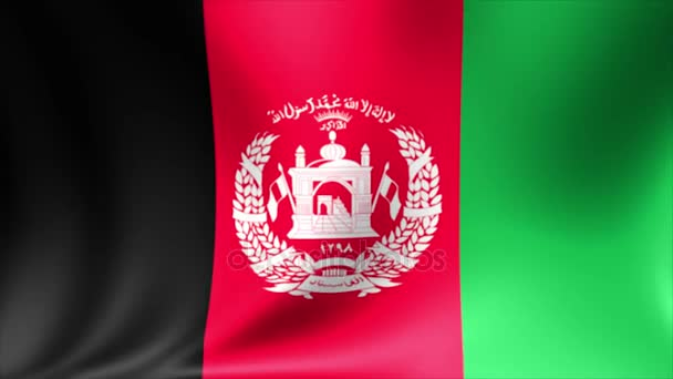 Afghanistan Flag. Background Seamless Looping Animation. 4K High Definition Video.