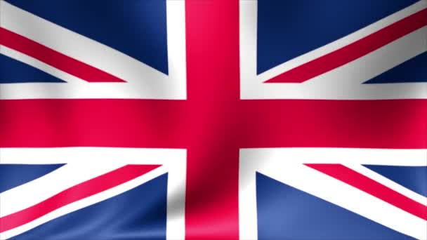 UK Flag Background Animated Waving Great Britain Abstract Seamless Looping Animation
