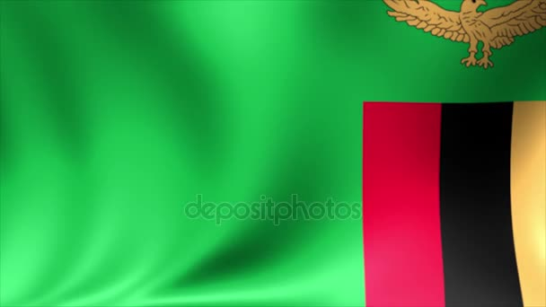 Zambia Flag  Background Seamless Looping Animation  4K High Definition  Video