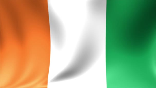 Ivory Coast Flag. Background Seamless Looping Animation. 4K High Definition Video.