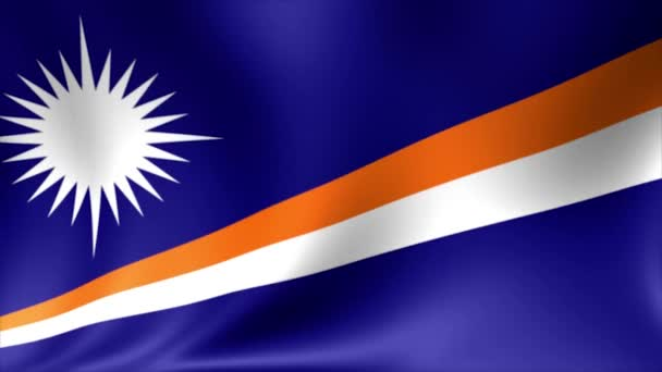 Marshall Islands Flag. Background Seamless Looping Animation. 4K High Definition Video.