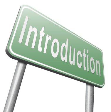 introduction road sign, billboard
