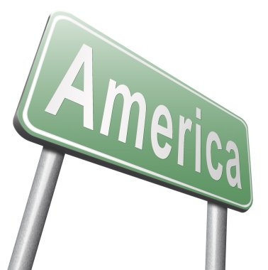 America road sign, billboard