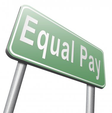 equal pay road sign, billboard